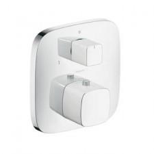 Hansgrohe PuraVida bateria termostatyczna, podtynkowa z zaworem odcinająco-przełączającym, element zewnętrzny biały/chrom - 157514_O1