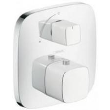 Hansgrohe PuraVida bateria termostatyczna, podtynkowa zzaworem odcinającym, element zewnętrzny, biały/chrom - 157518_O1