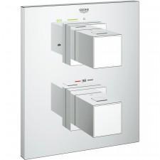 Grohe Grohtherm Cube bateria wannowa podtynkowa termostat chrom - 490160_O1