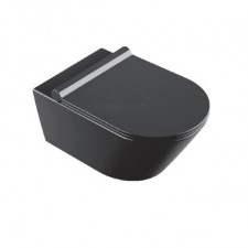 Catalano Zero Zestaw Miska WC wisząca 55x35 Czarny + śruby mocujące NEW + Deska sedesowa w/o z szybkim wypięciem czarna (1VS55NNE+5SCSTPNNE) - 767190_O1