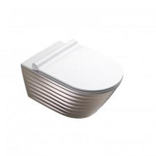 Catalano Clossy Miska Wc wisząca NewFlush 35x55 +śruby mocujące (5KFST00) biała/srebrny - 786679_O1