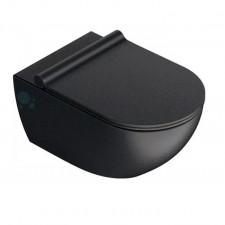 Catalano Sfera miska WC wisząca NewFlush 34x55 +śruby mocujące (5KFST00) czarny mat - 786480_O1