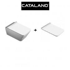 Catalano Proiezioni Zestaw miska WC z śrubami moc. z deską wolnoopadającą biała (1VSPN00+5PRSTP00)O1