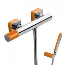 Tres Loft-Colors bateria natryskowa natynkowa z zestawem punktowym kompletna pomarańczowy chrom - 457794_O1