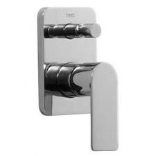 Tres Loft-Tres bateria wannowo-natryskowa podtynkowa 2-drożna kompletna chrom - 449064_O1