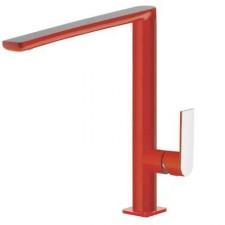 Tres Loft-Colors bateria umywalkowa stojącaczerwony chrom - 457740_O1