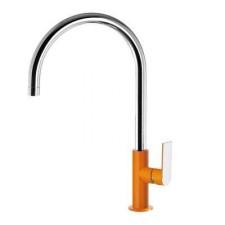 Tres Loft-Colors bateria umywalkowa stojąca pomarańczowy chrom - 457702_O1