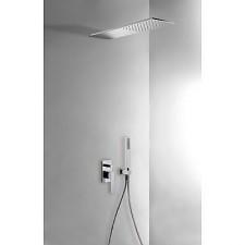 Tres Slim Exclusive kompletny zestaw prysznicowy podtynkowy deszczownica160x550mm chrom - 460026_O1