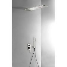 Tres Slim Exclusive kompletny zestaw prysznicowy podtynkowy deszczownica160x550 stalowy - 525385_O1