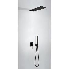 Tres Slim Exclusive kompletny zestaw prysznicowy podtynkowy deszczownica160x550 czarny matowy - 747357_O1