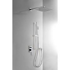 Tres Slim Exclusive kompletny zestaw prysznicowy podtynkowy deszczownica 320x220mm chrom - 459440_O1