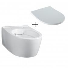 Geberit iCon XS Zestaw Miska WC wisząca Rimfree krótka + Deska sedesowa wolnoopadajaca Slim (204070000 + 574950000) - 791877_O1
