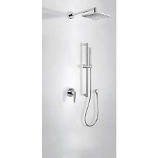 Tres Class kompletny zestaw prysznicowy podtynkowy deszczownica 250x250mm chrom - 524903_O1