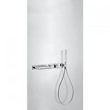 Tres Block System kompletny zestaw wannowo-prysznicowy podtynkowy termostatyczny 2-drożny wylewka kaskada chrom - 525439_O1