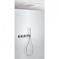 Tres Block System kompletny zestaw prysznicowy podtynkowy termostatyczny 3-drożny deszczownica 280x550mm chrom - 525100_O1