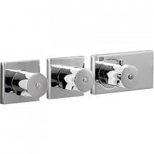 Tres Block System bateria podtynkowa termostatyczna 3-drożna kompletna chrom - 525313_O1