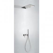 Tres 3V kompletny zestaw prysznicowy podtynkowy 3-drożny deszczownica 280x550mm chrom - 720759_O1