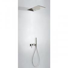 Tres 3V kompletny zestaw prysznicowy podtynkowy 3-drożny deszczownica 280x550mm stalowy - 740224_O1
