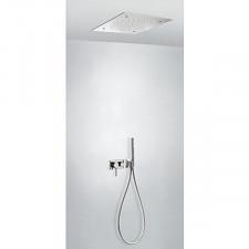 Tres 3V kompletny zestaw prysznicowy podtynkowy 3-drożny deszczownica 500x500mm chrom - 720627_O1
