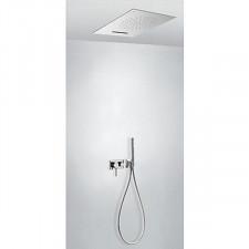 Tres 3V kompletny zestaw prysznicowy podtynkowy 3-drożny deszczownica 500x650mm chrom - 720713_O1