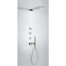 Tres 3V kompletny zestaw prysznicowy podtynkowy 3-drożny deszczownica 160x550mm chrom - 720603_O1