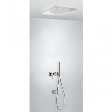 Tres 3V kompletny zestaw prysznicowy podtynkowy 3-drożny Chromoterapia deszczownica 500x500mm chrom - 720776_O1