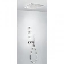 Tres 3V kompletny zestaw wannowo-prysznicowy podtynkowy 3-drożny Chromoterapia deszczownica 500x500mm chrom - 720733_O1