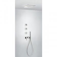 Tres 3V kompletny zestaw prysznicowy podtynkowy 3-drożny deszczownica 380x380mm chrom - 720614_O1