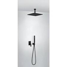 Tres Project kompletny zestaw prysznicowy podtynkowy deszczownica 300x300mm czarny matowy - 747941_O1