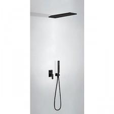 Tres Project kompletny zestaw prysznicowy podtynkowy deszczownica 160x550mm czarny matowy - 754708_O1