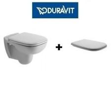 Duravit D-Code zestaw miska WC wisząca 48 cm biała z deską wolnoopadającą (22110900002+0067390000)O1