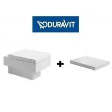 Duravit Vero zestaw miska WC wisząca 54 cm biała z deską wolnoopadającą (2217090064+0067690000)O1