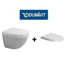 Duravit Starck 3 zestaw miska WC wisząca 48 cm biała z deską wolnoopadającą (2227090000+0063890000)O1