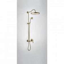 Tres Mono-Clasic kompletny zestaw prysznicowy podtynkowy deszczownica średnica310mm stary mosiądz - 751985_O1