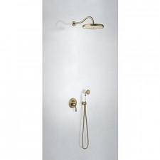 Tres Mono-Clasic kompletny zestaw prysznicowy podtynkowy deszczownica średnica310mm stary mosiądz - 747488_O1