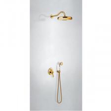 Tres Mono-Clasic kompletny zestaw prysznicowy podtynkowy deszczownica średnica310mm złoty - 750768_O1