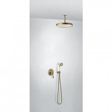 Tres Mono-Clasic kompletny zestaw prysznicowy podtynkowy termostatyczny 2-drożny deszczownica średnica310mm stary mosiądz - 751926_O1