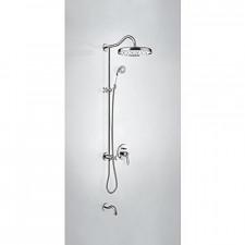 Tres Mono-Clasic kompletny zestaw wannowo-prysznicowy podtynkowy termostatyczny 3-drożny z wylewką do wanny deszczownica średnica310mm chrom - 744913_O1