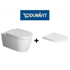 Duravit Me by Starck zestaw miska WC wisząca 57cm biała z deską wolnoopadającą (2528090000+0020090000)O1