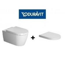 Duravit ME by Starck Miska WC wisząca 57x36.5 biała bezrantowa Rimless z deską wolnoopadającą (2529090000+0020090000)O1