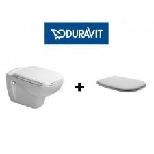 Duravit D-Code zestaw miska WC wisząca 54 cm biała z deską wolonoopadającą (25350900002+0067390000)O1