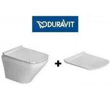 Duravit Durastyle zestaw miska WC wisząca bezrantowa Rimless z deską wolnoopadającą (2551090000+0063790000)O1