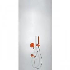 Tres Study Colors kompletny zestaw wannowo-prysznicowy podtynkowy z wylewką pomarańczowy - 612819_O1