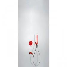 Tres Study Colors kompletny zestaw wannowo-prysznicowy podtynkowy z wylewką czerwony - 612916_O1