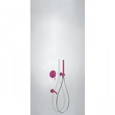 Tres Study Colors kompletny zestaw wannowo-prysznicowy podtynkowy z wylewką fioletowy - 612844_O1
