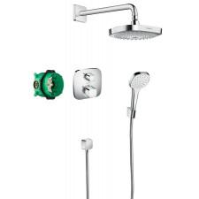 Hansgrohe Croma Select E Podtynkowy zestaw prysznicowy z termostatem i deszczownicą Ecostat E - 572592_O1