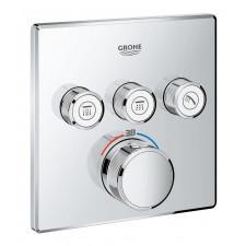 Grohe Grohtherm SmartControl Bateria prysznicowa podtynkowa termostatyczna 3-drożna do SmartBox Chrom - 756058_O1