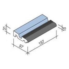Villeroy & Boch Pro Architectura Pool System fragment kanału 10x20 cm gres matowy jasny aquamarine-czarny - 519244_T1