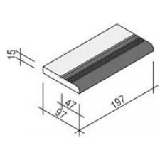 Villeroy & Boch Pro Architectura Pool System zakończenie 10x20 cm gres matowy biały-czarny - 519194_O1