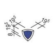 Villeroy & Boch Pro Architectura Pool System narożnik wewnętrzny 1,95x1,95 cm gres matowy ciemny niebieski - 519703_O1